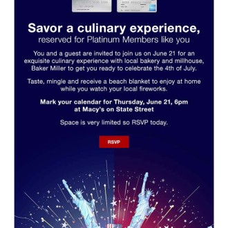 Macy's 2018 Event Email
